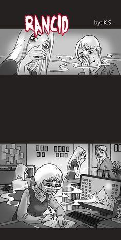 Silent Horror :: Rancid | Tapastic Comics - image 1 Silent Horror Comics, Creepy Comics, Funny Comics, Creepy Stories, Funny Stories, Arte Horror, Horror Art, Scary Photos, Horror Drawing