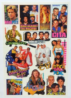 Bravo Aufkleber Retro - I remember LOVING all those different teen magazines, all the more if they came with freebies/extras like stickers! 90s Childhood, Childhood Memories, Brad Pitt, Good Old Times, History Channel, 90s Kids, Graphic Design Posters, Sweet Memories, My Memory
