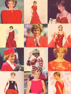 Lovelyprincessdiana:  Diana in red