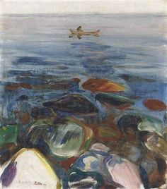 Edvard Munch, Boating in the sea (1904)