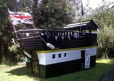All aboard: Clare Kapma's shed, inspired by her love of Lord Nelson's flagship HMS