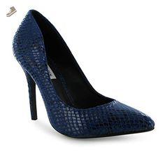 892d80b119 Steve Madden Gallery Stiletto Heel Shoes Womens Blue Ladies Fashion Footwear  (UK5) - Steve