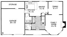 First Floor Plan of Bungalow   Country   House Plan 92424