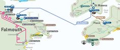 St Mawes Ferry Route Map