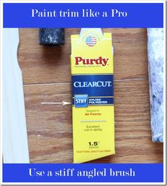 I normally would use painter's tape on the wall to protect it from getting any trim paint on it, but my brother-in-law who is a professional painter told me there is no reason to do that. All you need is a 1-1/2-inch stiff angled brush that are made to cut-in. I bought a Purdy one at Lowes.  It made a HUGE difference. The stiff bristles are very precision like and don't splay out.
