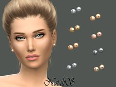 It is very simple and the most popular earrings.  Found in TSR Category 'Sims 4 Female Earrings'