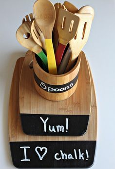Painted wooden spoons - Ahşap servis setlerini renklendirelim