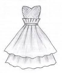 310eacbdf3a Картинки по запросу эскизы одежды простым карандашом Платье Эскизы