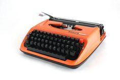 Typewriter Privileg 300T OrangeTypewriter Manual by ArtmaVintage