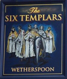 Six Templars - The Wash, Hetford, Hertfordshire, UK. -  The six Templars, in question were arrested at Temple Dinsley near Hitchin and four of them, imprisoned at Hertford castle to the rear of this pub.