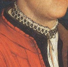 pinked edge on coat and awesome detail on collar; multi-colour thread