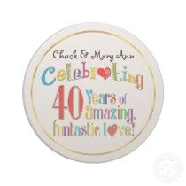 Sandstone Coaster > + more SweetLoveGifts Personalized 40th Wedding Anniversary Gifts