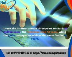 achievements of internet 50 Million, To Reach, Internet, Facts