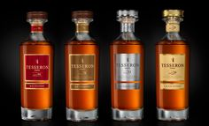 Tesseron Cognac. Range Collection Classique (XO Ovation, XO Tradition, XO Perfection, XO Exception). Packaging designed by #Linea