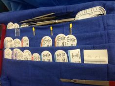 Clever mayo stand set up with the towels when there are a lot of sutures involved, not necessary but clever!