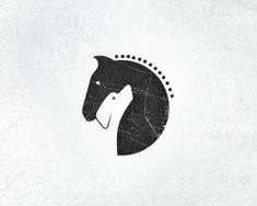logo for horse stables & dog training center // negative space / clean / illustration / logo / double meaning / Design Poster, Design Art, Web Design, Logo Animal, Inspiration Logo Design, Negative Space Logos, Horses And Dogs, Dog Logo, Vintage Design