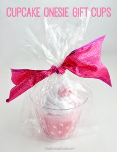 Cute Baby Cupcake Onesie Homemade Gift Bag Idea by Club Chica Circle