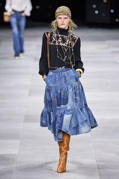 Celine Spring 2020 Ready-to-Wear | ALMAZE - love the jean skirt