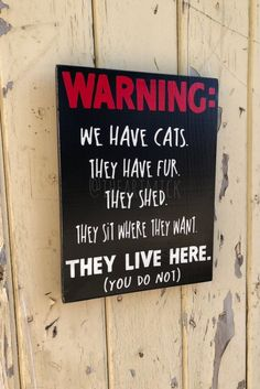 Pictures Of Cats Cat Signs, Wood Signs, Crazy Cat Lady, Crazy Cats, Used Vinyl, Cat Quotes, Here Kitty Kitty, Vinyl Lettering, Cats And Kittens