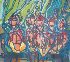 Modern acrylic paints on MDF board 93x103 cm. Untitled: 01042016.  Artist: Piotr Banachowicz, Poland