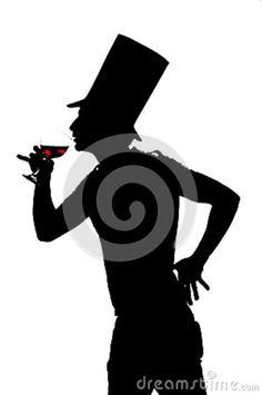 silhouette man wine - Google Search