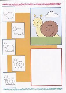 Hoe teken ik een slak / PEIXINHOS NO SOTÃO: Kids