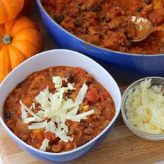 Pumpkin is a great addition to savory recipes too! Try it in you chili for a boost of flavor and nutrition Pumpkin week is in full force, and while I love pumpkin dessert/sweet recipes, there needs...