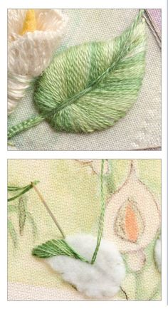 Wonderful Ribbon Embroidery Flowers by Hand Ideas. Enchanting Ribbon Embroidery Flowers by Hand Ideas. Crewel Embroidery Kits, Hardanger Embroidery, Simple Embroidery, Learn Embroidery, Silk Ribbon Embroidery, Hand Embroidery Patterns, Embroidery Thread, Cross Stitch Embroidery, Embroidery Designs