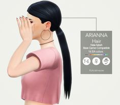 A new hairstyle 'Arianna' for your female sims! I hope you enjoy it! C: Credits: @grimcookies for the base mesh and textures; EA. Please check @grimcookies Aubrey hair! Made with Sims4 Studio. • Base...