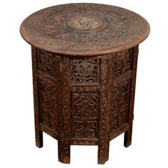 Indian 19th Century Inlaid Rosewood Occasional Table