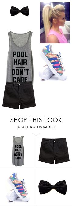 pool hair by roseryan13 on Polyvore featuring adidas