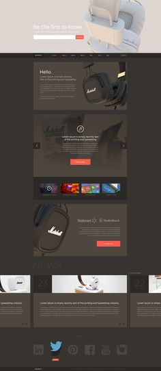 #web design, dark, clean and minimal
