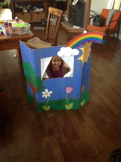 Cardboard Box Puppet Theatre UpCycle Tutorial