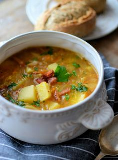 Healthy and hearty soup. Perfect source of energy when you are moving!