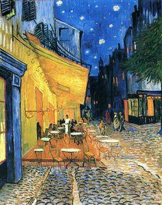 Ночная терраса кафе | Cafe Terrace at Night, сентябрь 1888| Искусство Ван Гога