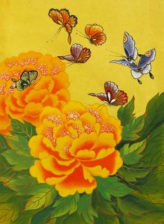 They are far from the sadness, hatred and revenge. Chinese Painting, Whimsical Art, Asian Art, Flower Art, Still Life, Peonies, Folk Art, Bing Images, Street Art