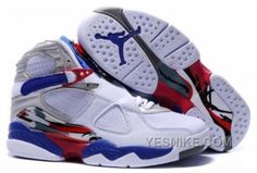 e2983fd06b7 Womens Air Jordan 8 Shoes-white blue red Basketball Shoes On Sale