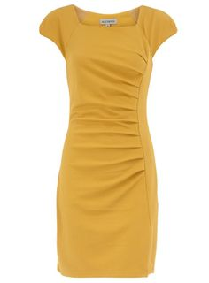 This dress is amazing. Too bad I can't wear mustard...