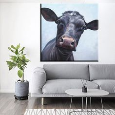 xdr186 Impression catoon cow animal canvas printings knife oil paintings printed on canvas kid room wall art decoration picture Oil Painting Flowers, Oil Painting On Canvas, Oil Paintings, Painting Prints, Canvas Wall Art, Art Print, Wall Decor Pictures, Decorating With Pictures, Kids Room Wall Art
