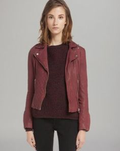 Maje Leather Jacket - Quilted Moto