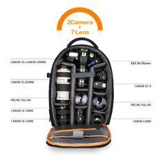 K-amp-F-Concept-Large-Capacity-DSLR-SLR-Camera-Backpack-Rucksack-fr-Canon-Nikon-Sony Dslr Camera Bag, Camera Backpack, Rucksack Backpack, Dslr Cameras, Photography Gear, Amazon Associates, Canon Lens, Nikon, Sony