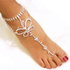 Sexy rhinestone barefoot sandals, foot bracelet,beach foot jewelry, cross beads anklets for women Foot Bracelet, Ankle Bracelets, Bling Bling, Women Accessories, Jewelry Accessories, Beach Foot Jewelry, Teen Trends, Look Street Style, Beaded Anklets