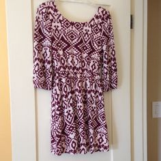 Aztec print cuteness Such a great fit on this little beauty.  Comfortable and easy with a low v back to add a little flare.  Size tag missing but I think it would work as a 2 or 4 for sure Dresses Mini