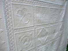 Back of Marg's sampler quilt, via Flickr.