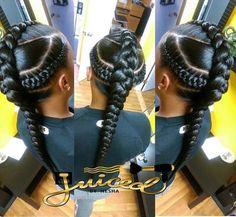 Protective hairstyles 506162445601643660 - Goddess Braids Source by DeloresNubian Braids For Kids, Girls Braids, 2 Braids, Fishtail Plaits, Ghana Braids, Little Girl Hairstyles, Cute Hairstyles, Elegant Hairstyles, African Hairstyles