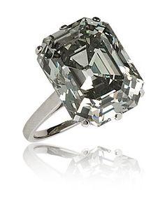 """Idée et inspiration Bague Diamant : Image Description RARE FRENCH ART DECO FANCY """"STEEL"""" GREY 10 CARAT DIAMOND RING."""