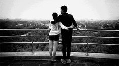 couples overlooking city view gifs gif love romance movie clips video clips couples gifs black and white gifs couple images painting together