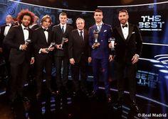 Marcelo, Luka, Toni, Florentino, Cristiano y Sergio