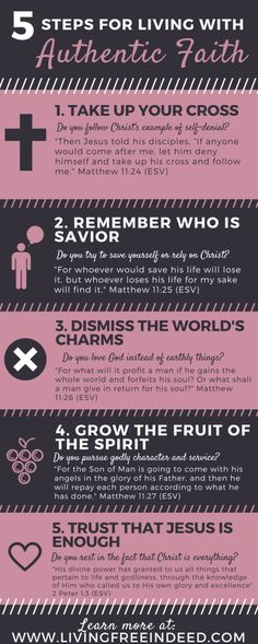 5 Steps for Living with Authentic Faith - Free Indeed