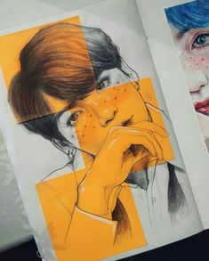 Fanart Bts, Mini Canvas Art, Kpop Drawings, Bts Chibi, Aesthetic Art, Bts Wallpaper, K Pop, Art Inspo, Art Sketches